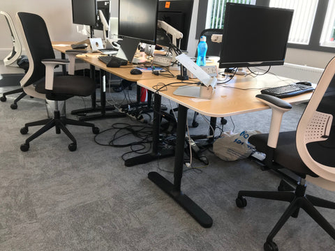 Single Desks 1600W x 800D round corners