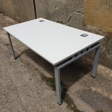 Single desk with grey top