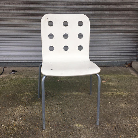 Stylish IKEA white and silver frame desk chair