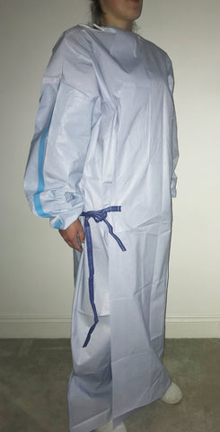 COVID-19 PPE PROTECTIVE BLUE SURGICAL GOWN