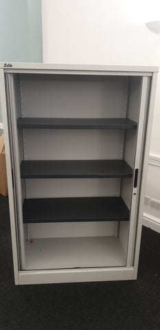 Silverline Tall Tambour Cabinet 3 Shelves