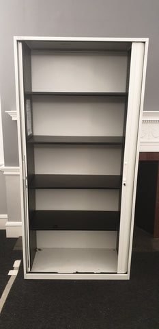 Bisley Tambour 4 Shelves Black