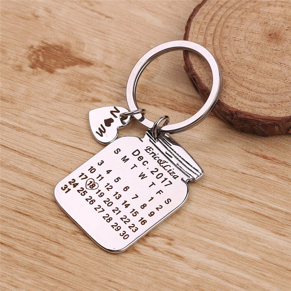 Personalized Jar Calendar Keychain - Superlative Trends