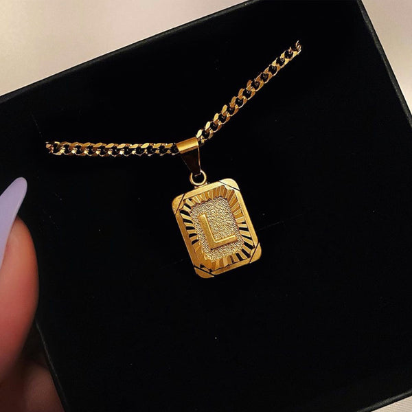 24k Gold Plated Initial Necklace
