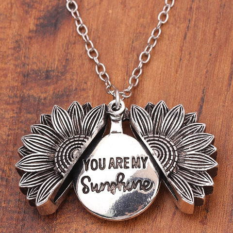 "Sunflower Necklace ""You are my Sunshine"""