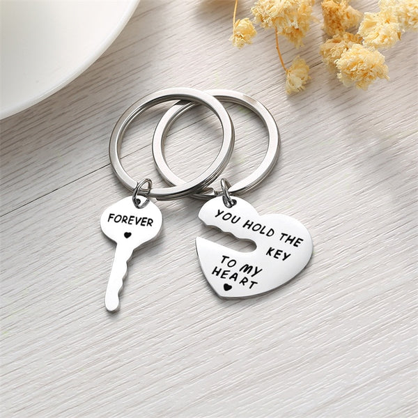 Key & Heart Keychain Combo - Superlative Trends