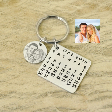 Personalized Image Calendar Keychain