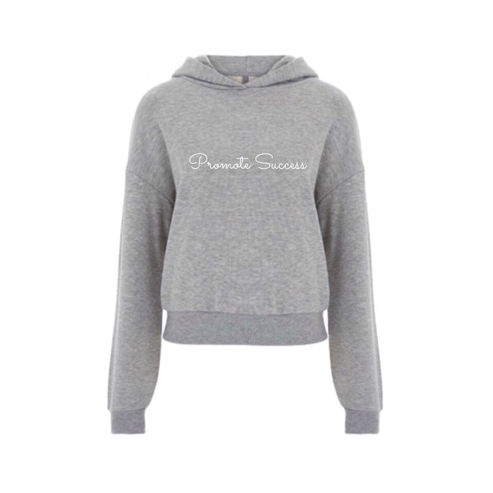 Womens Cropped Signature Hoodie - Grey