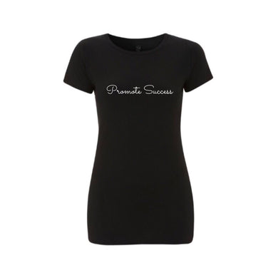 Womens Signature Slim Fit T shirt - Black