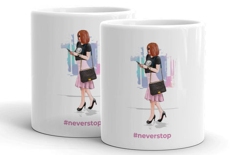 Elly Fashionista Mug Set of 2