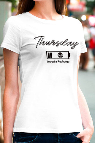 Thursday, I Need a Recharge Tee