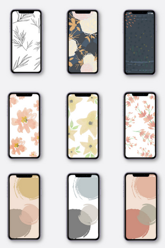 Summer set of 9 Phone Wallpapers