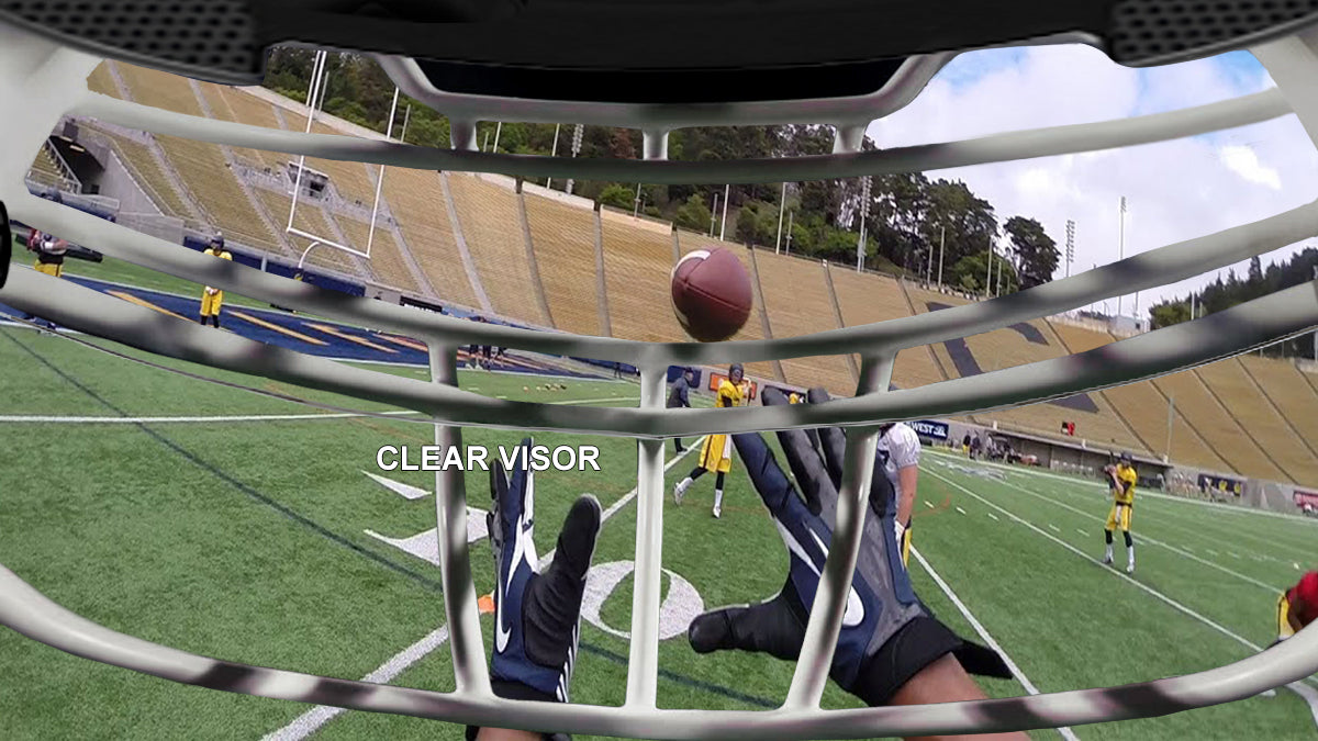 clear football visor