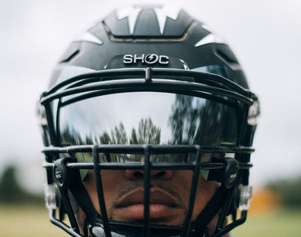 chrome mirror tint football visor for riddell speedflex