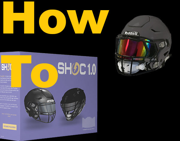 SHOC 1.0 Football and Lacrosse Visor | Tigers Blood, SHOC Visor, SHOC,SHOC