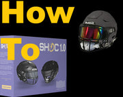 SHOC 1.0 Football Visor | Chrome Mirror