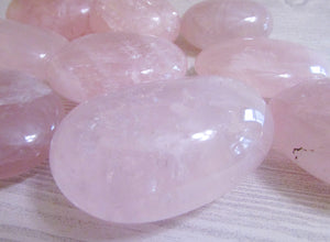 Rose Quartz Crystal Palm Stones - Crystal - Cosmic Corner Savannah