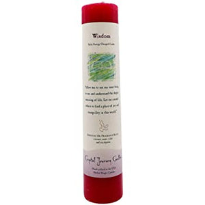 Reiki Herbal Pillar Candle Wisdom