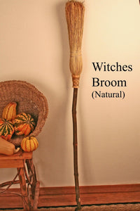 Witches' Besom Broom - Natural (Summer)