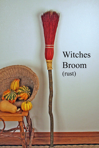 Witches' Besom Broom - Rust (Spring)