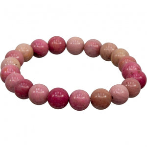 Rhodonite Bracelet 8mm Round Beads
