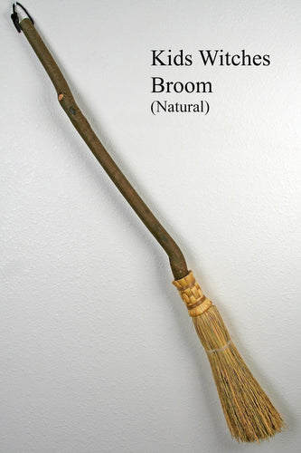 Witches' Besom Broom - Natural (Summer) - Small