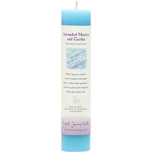 Reiki Herbal Pillar Candle Ascended Masters