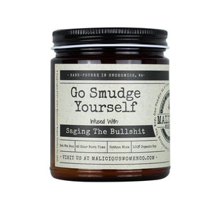 """Go Smudge Yourself"" Candle"
