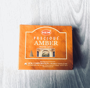 Amber HEM Incense Cones - Incense - Cosmic Corner Savannah