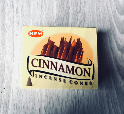 Cinnamon HEM Incense Cones - Incense - Cosmic Corner Savannah