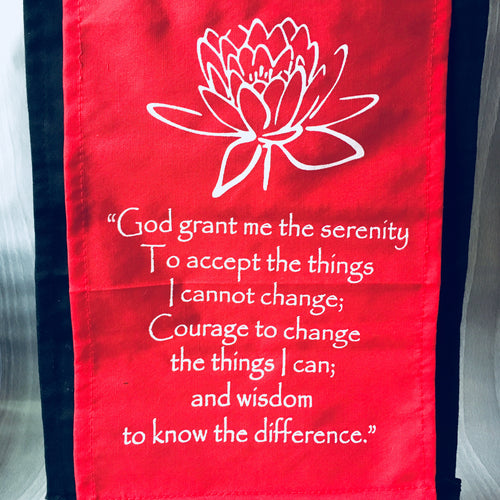 "Small Cotton Banner - ""God grant me serenity"" - Decor - Cosmic Corner Savannah"