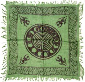 Celtic Earth With Moon Phases Altar Cloth AC009