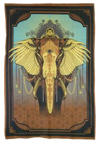 Gold Elephant Tapestry TP007