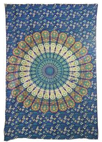 Green Peacock Tapestry TP009