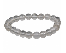 Clear Quartz Stretch Bracelet || 8mm Round Beads