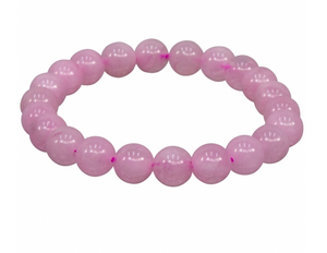 Rose Quartz Stretch Bracelet || 8mm Round Beads