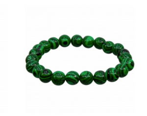 Synthetic Malachite Bracelet 8mm Round Beads