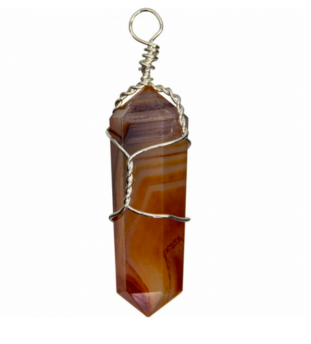 Carnelian Wire-Wrapped  Pendant