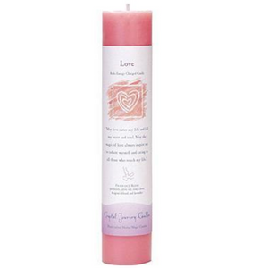 Reiki Herbal Pillar Candle Love