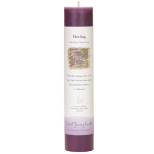 Reiki Herbal Pillar Candle Healing