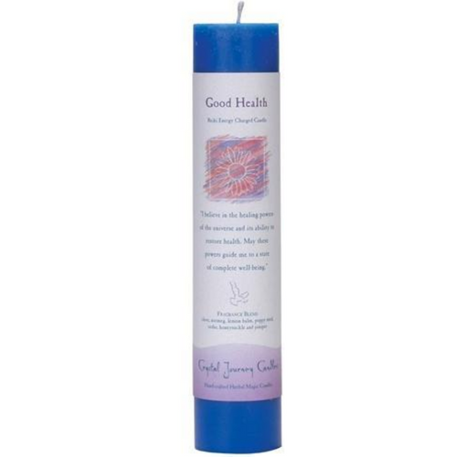 Reiki Herbal Pillar Candle Good Health