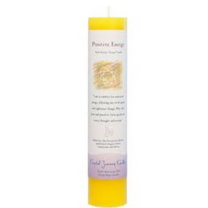 Reiki Herbal Pillar Candle Positive Energy