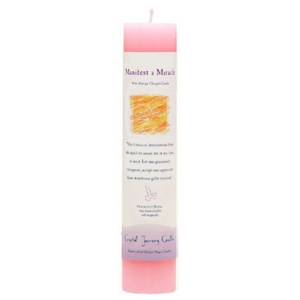 Reiki Herbal Pillar Candle Manifest A Miracle