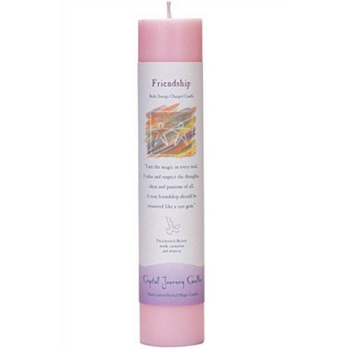 Reiki Herbal Pillar Candle Friendship