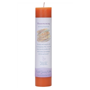Reiki Herbal Pillar Candle House Warming