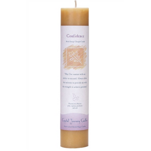 Reiki Herbal Pillar Candle Confidence