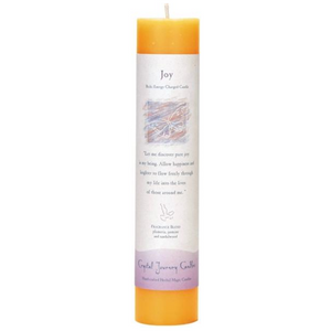 Reiki Herbal Pillar Candle Joy