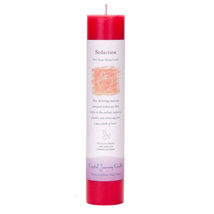 Reiki Herbal Pillar Candle Seduction