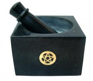Mortar and Pestle With Pentacle