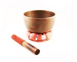 "5"" Diameter Tibetan Singing Bowl with Striker and Cushion"